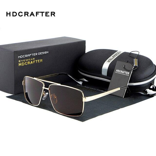 Men's Sunglasses Polarized oversized metal frame luxury brand designer Coating Mirror Sun Glasses oculos Male Eyewear For Men