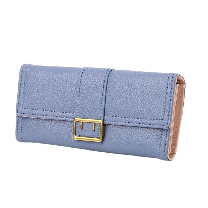 THINKTHENDO Women Bifold Elegant Wallet Long Leather Handbag Clutch Credit Card Holders Purse Lady New Brand кошелек new brand purse ts49fe elegant wallet