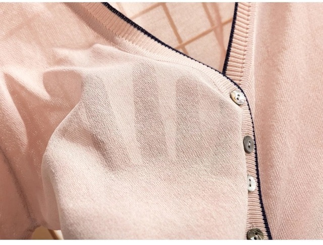 special price, thin knitted linen sweater, women's cardigan jacket, 2019 summer thin sunscreen, short air conditioning shirt. 6