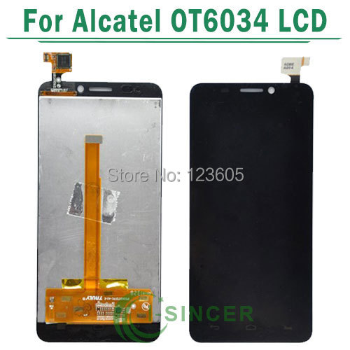 LCD Display Assembly +Digitizer touch Screen For Alcatel One Touch Idol S 6034 OT6034 6034R 6034Y 6034M