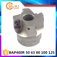 New BAP400R 50 22 4T Right Angle Shoulder Face Mill Cutter 4pcs Inserts Are Fitted On