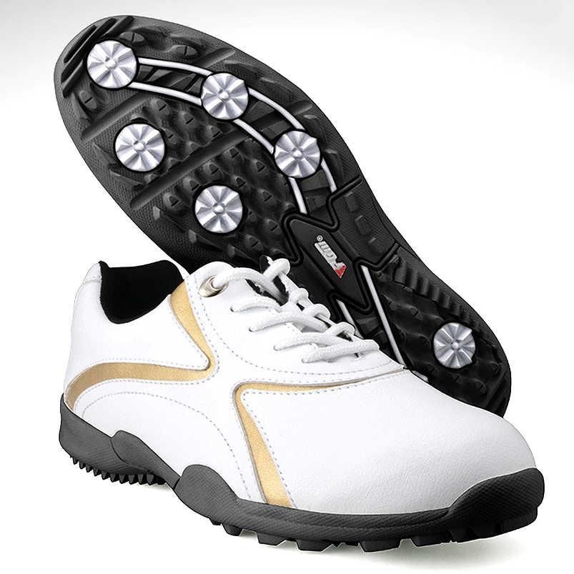 PGM אותנטיים Mens גולף נעלי גברים של פנאי סעיף קבוע נייל סניקרס עמיד למים ונושם גברים ספורט גולף נעליים