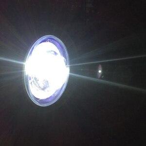 Image 2 - Faro delantero LED modificado para motocicleta, luz auxiliar de instalación sencilla, faro antiniebla Universal superbrillante