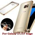 Nova HQ luxo Limpar capa Bolsa Samsung Galaxy S7 Borda caso Capa de Silicone para Samsung Caso TPU Luxo caso S7 S7