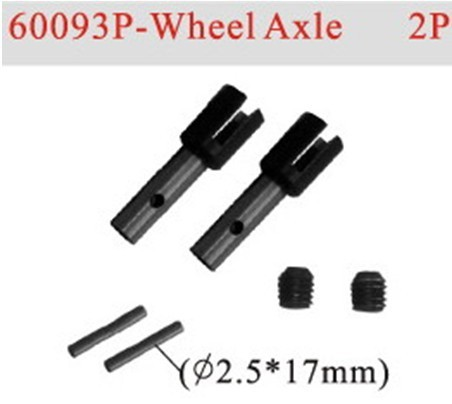 HSP part 60093P Wheel Axle *2P For 1/8 RC Monster Truck Buggy Car Truggy hobby spare parts hsp rc model car spare part 02023 clutch bell double gears 16t 21t rc 1 10th 4wd truck buggy destrier backwash