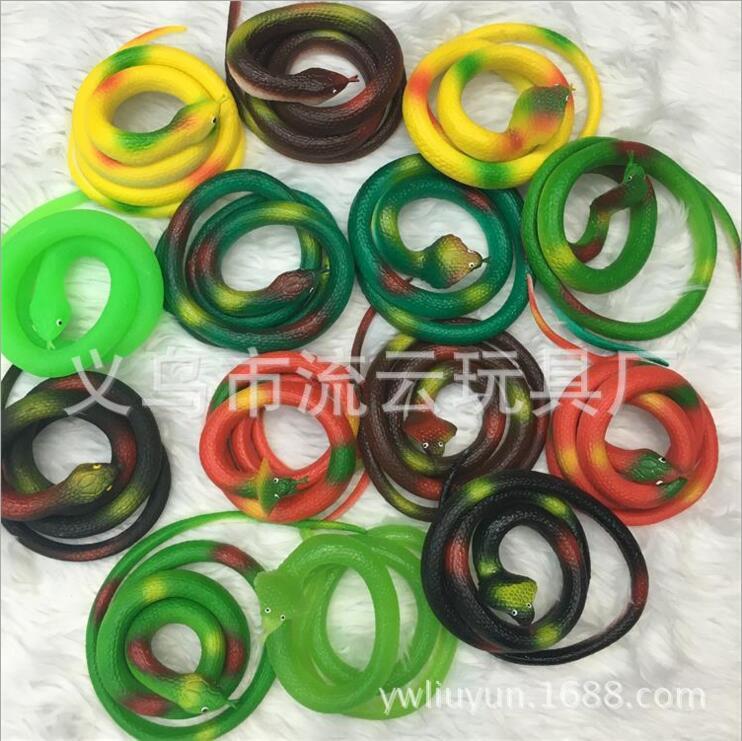 Disse trick legetøj Mellemstørrelse 70cm gummi simulation dyr Snake horror skræmmende legetøj April fjols dag rekvisitter Holiday gaver Ornament