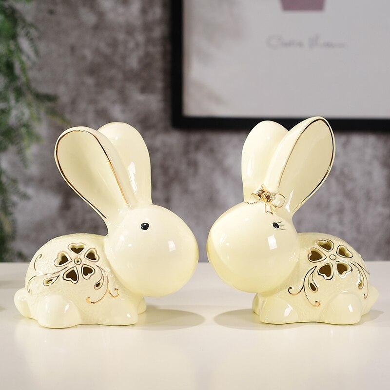 Свадебный подарок Домашнее украшение новые дома любителей керамических ремесел украшение животных 1 пара - 2
