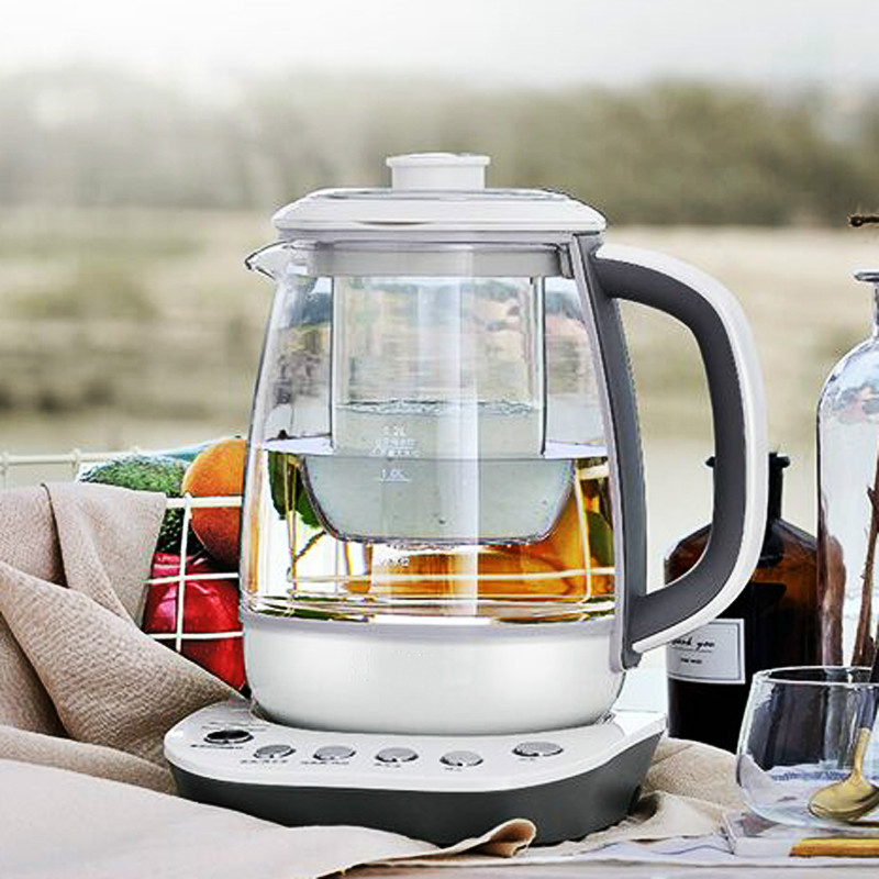Electric kettle Bird's nest pot of water curing stew thickened glass automatic multi-function electric black tea 220v household electric pot convenient electric cooker 1l capacity electric skillet multi function steam stew kitchen tool