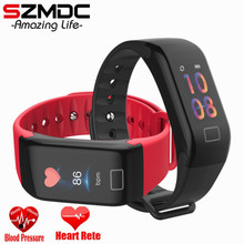 SZMDC HOT Color Screen Waterproof F1 Plus Smart bracelet Wristband Call Reminder Step Pulse Heart Rate Monitor PK mi band 3