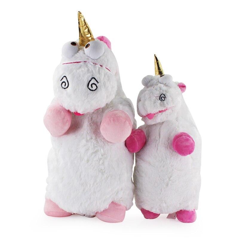 Lindo Rosa 55 cm 40 cm esponjoso unicornio de peluche de felpa suave Animal grande ladrón Daddy niños unicornio muñeca