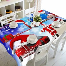 Meijuner Christmas Table Cloth 3D Tablecloth Rectangle Digital Printing Polyester Home Party X-mas Dinner Decoration Cover