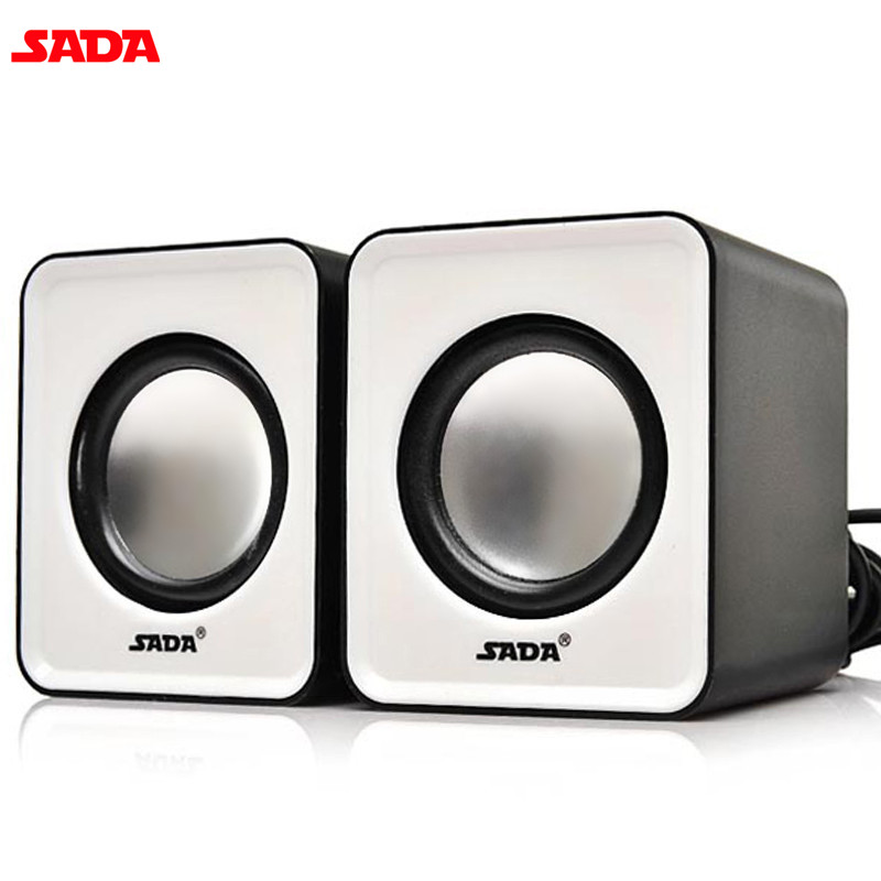 SADA 3D Stereo Mini Computer Speakers Portable Wired Speakers 1 Pair Bass Multimedia Speakers for Desktop Computer Laptop