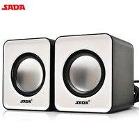SADA 3D Stereo Mini Computer Speakers Portable Wired Speakers 1 Pair Bass Multimedia Speakers For Desktop