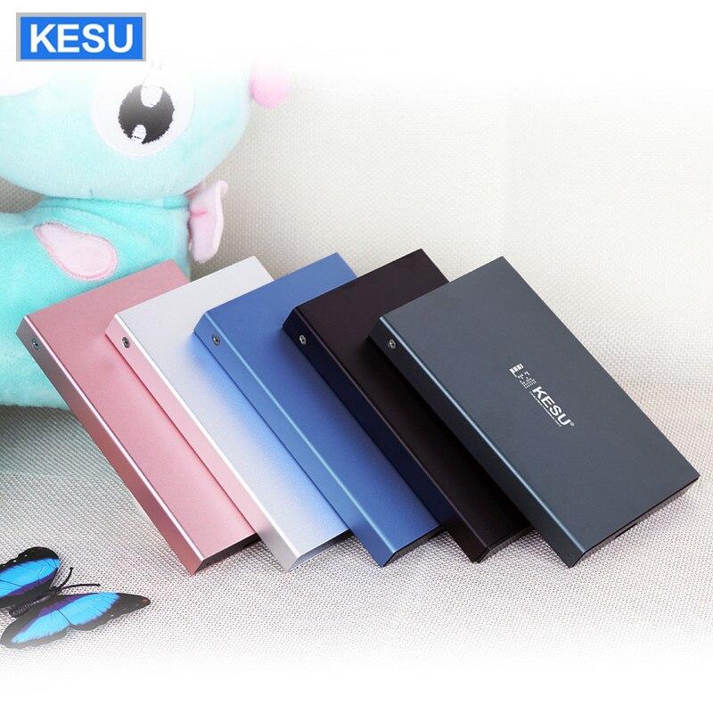 KESU External Hard Disk Drive HDD USB2.0 60g 160g 250g 320g 500g 750g 1 tb 2 tb De Armazenamento HDD para PC Mac Tablet box TV 6 Cor