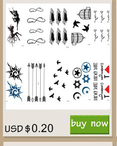 Rocooart RC2239 Body Art Water Transfer Fake Tattoo Sticker Temporary Tattoo Sticker Blue Black Wind Blown Feathers Taty Tatoo 4