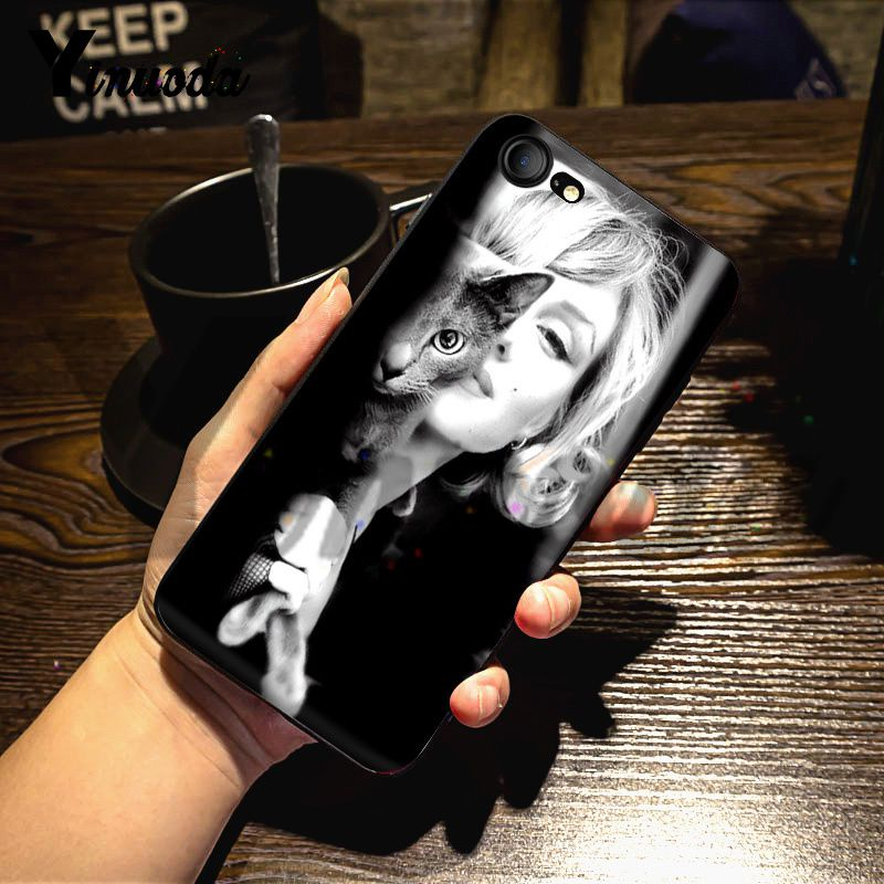 Yinuoda For iphone 7 6 X Case Marilyn Monroe Lovely Soft Silicon Phone Accessories Case for iPhone 7 X 6 6S 8 Plus X 5 5S SE 5C