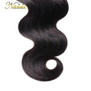 Image 3 - Nadula ヘア 5*5 実体波レースクロージャー無料パートの Remy 人間の毛髪ナチュラルカラーブラジルの髪の閉鎖ベビーヘアー
