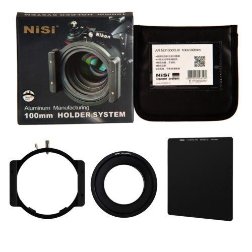 NiSi 100mm ND1000 Kit filtre carré densité neutre 10 arrêt support en verre optique 58mm anneau pour Canon EF-S 55-250mm f/4-5.6