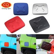 Chuang Qian Aluminum Gas Tank Cap Fuel Filler Door Decoration Trim Exterior Cover For Jeep Renegade 2015 – 2017 Car Sticker