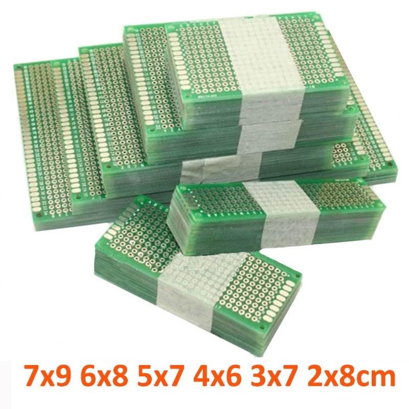 12pcs/lot 7x9 6x8 5x7 4x6 3x7 2x8cm Double Side Prototype Diy Universal Printed Circuit PCB Board Protoboard For Arduino