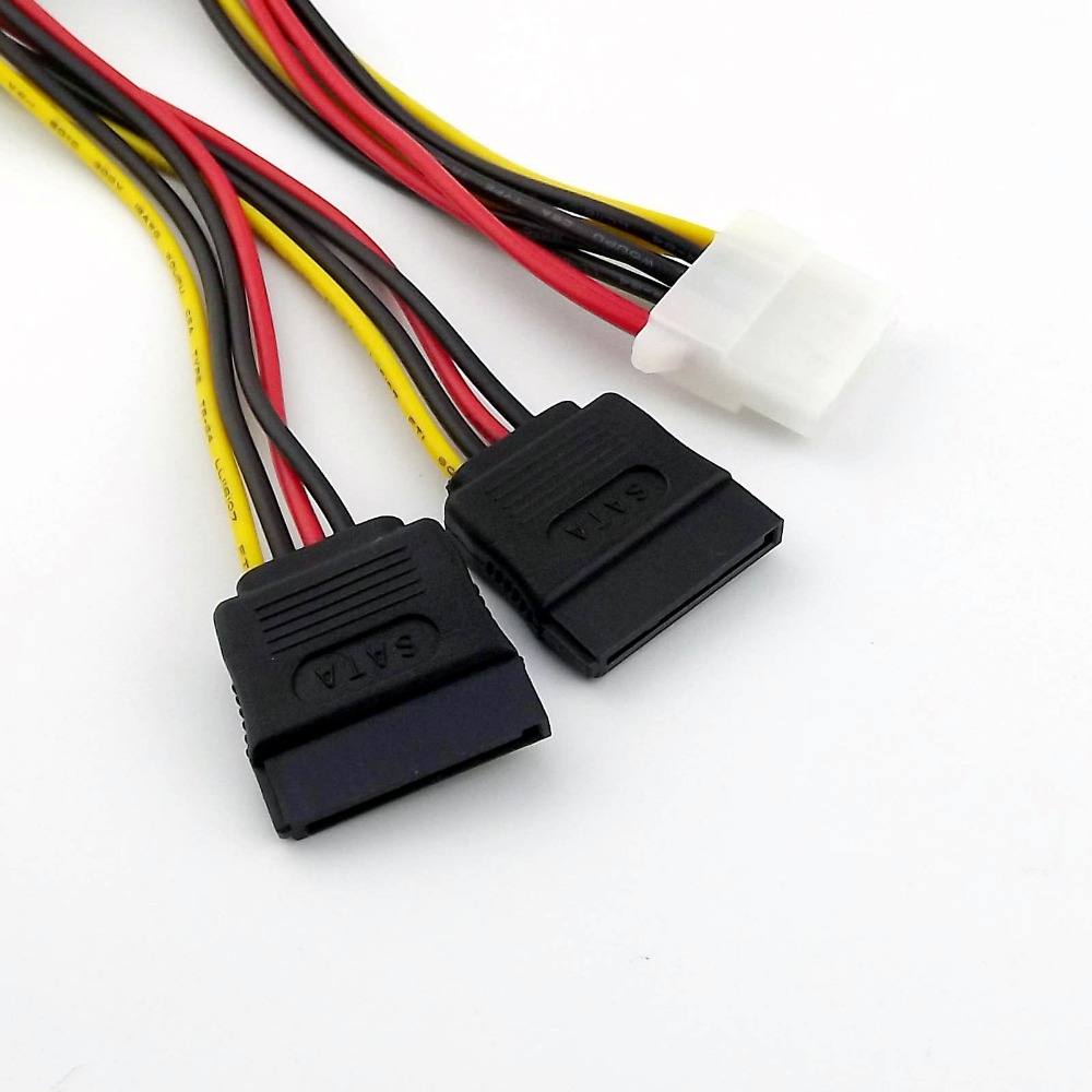 5x Pack IDE//Molex 4-Pin Male to Serial SATA 15-Pin Female Y-Power Cable