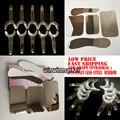 5 PCS Dental ortodontia fotográfica espelho de aço inoxidável Autoclavebale + 10 PCS t-shape Cheek Intraoral Lip Retractor Opener