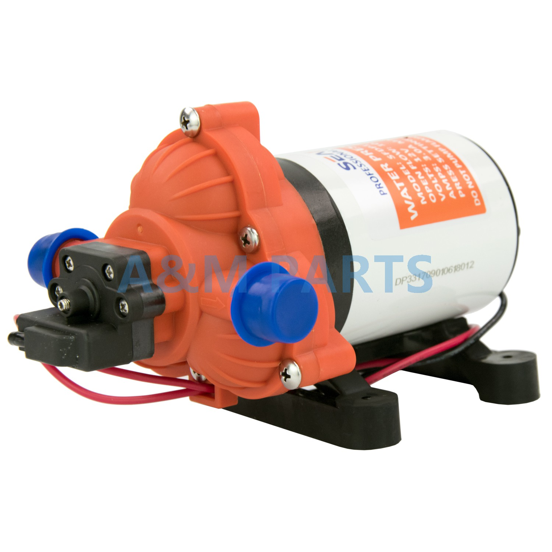 12V 45 PSI 2.8 GPM Self Priming Diaphragm Pump Boat Marine RV Water Pump