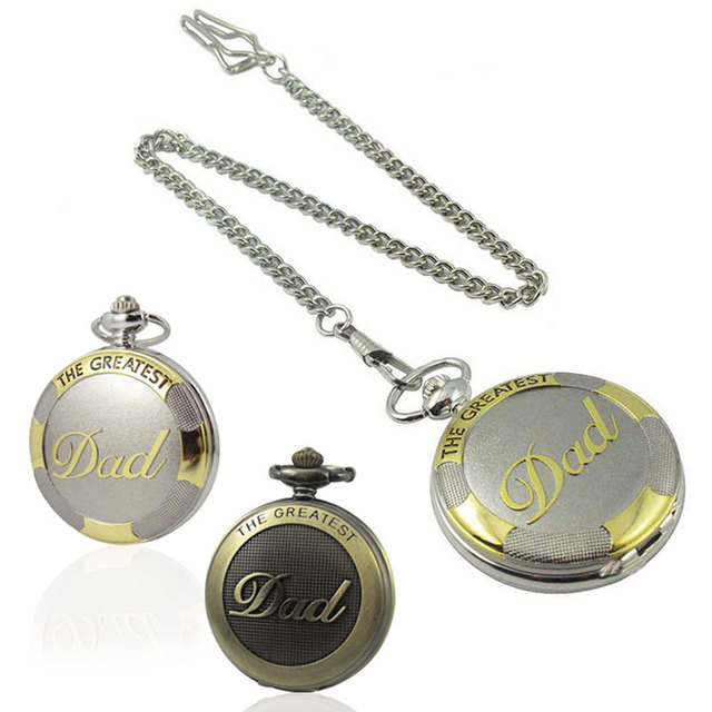 New Arrive Bronze Big Size DAD Pocket Watch With Chain Fashion & Leisure Necklac