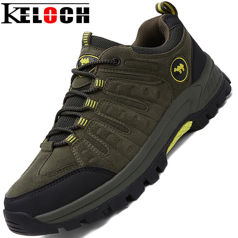 Keloch Outdoor Hiking Shoes Walking Men Climbing Shoes Sport Boots Hunting Mountain Shoes Non-slip Breathable sale outdoor sport boots hiking shoes for men brand mens the walking boot climbing botas breathable lace up medium b m
