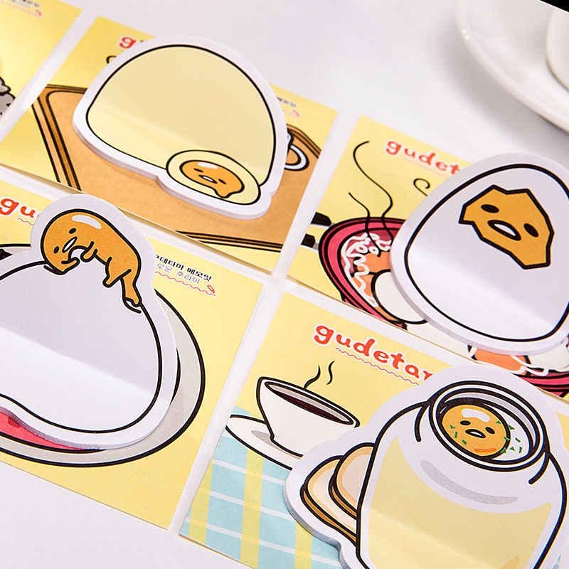 Coloffice cancelleria 2PCs guscio d'uovo a forma di autoadesivo Del Fumetto pasta N volte Pigro Uovo Sticky Notes Messaggio di Carta Libro Per Bambini adesivi