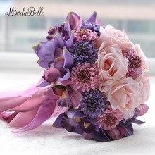 Modabelle Purple Lilies Chrysanthemum Rose Pink Beautiful Wedding Bouquet Ivory Bridal Decoration ramo de novia 2018 New arrival