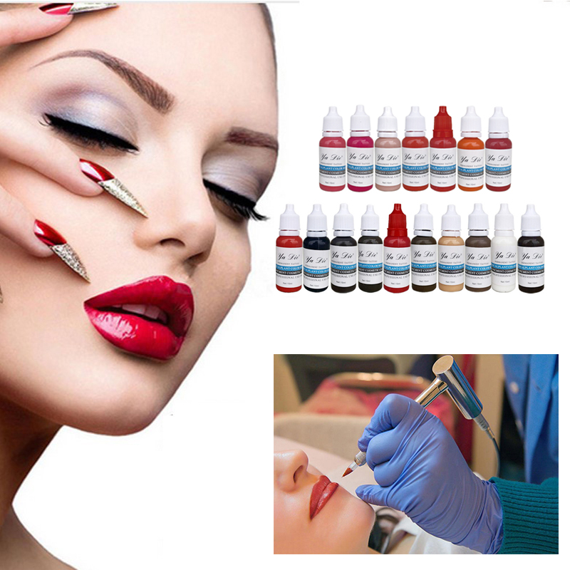 22 Colors Permanent Eyebrow Lipstick Microblading Pigments Paints Ink for Lip Tattooing Tattoo Machine Tattoo Ink Material I 7 colors permanent eyebrow lipstick microblading pigments paints ink for lip tattooing 15ml 1 2 oz