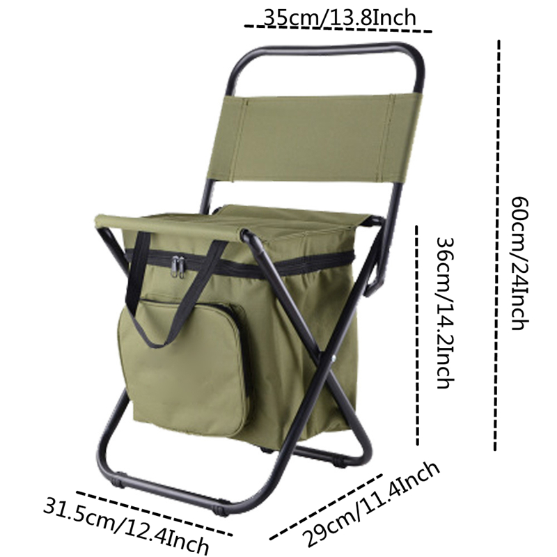 Image 5 - VILEAD Folding Portable Camping Cooler Chair Picnic Fishing Beach Hiking Outdoor Ultralight Seat Table Backpack Camping Stools-in Camping Chair from Sports & Entertainment