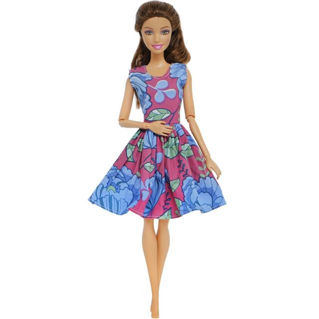 Mixed Style Dresses For Barbie Doll 5 pcs Set