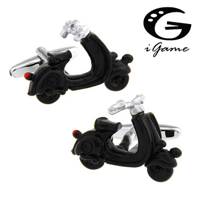 Cuff Button For Men Fashion Electric Vehicle Motorcycle Style Black Colour Quality Copper Material Cufflinks abotoadura