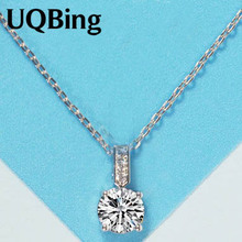 Wholesale 925 Sterling Silver Necklaces Crystal Rhinestone Pendants Necklaces Jewelry Collar Colar de Plata