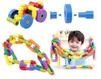 Brand 72 PCs Children Water Pipe Match Building Blocks Assemble Tunnel Plastic Blocks For Kids Birthday