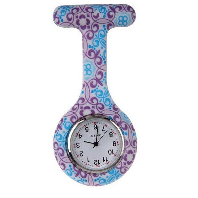 Perfect Gift Silicone Stainless Round Dial Quartz Fob Quartz Pocket Nurse Watch