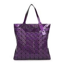 2015 neue Mode frauen Handtasche Hight qualität PVC BAOBAO gitter Gesteppte Schultertasche Geometrische Mosaik Totes 9*9 & 6*6 Gitter