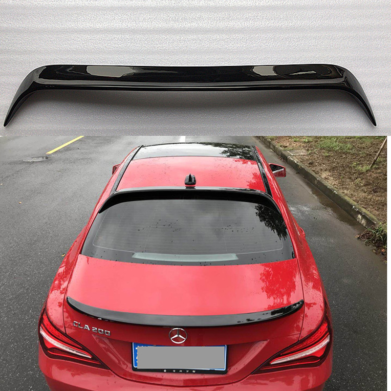 For Mercedes-Benz CLA W117 CLA180 <font><b>CLA200</b></font> CLA250 CLA45 ABS Plastic Painting Color Rear Wing Roof <font><b>Spoilers</b></font> Auto Accessories image