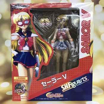 SHF SAILOR MOON Anime SAILOR V VENUS BJD Collection Beauty Girls Action Figure Toys 15cm