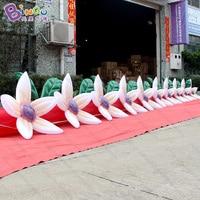 Индийский популярных надувные цветок цепь для Свадебные украшения надувные игрушки