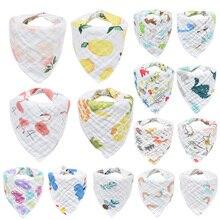 4 шт./лот musiln хлопок; 8-слойные детские нагрудники для мальчиков и девочек, детский детские нагрудники банданы Bebe Треугольники Слюнявчики для кормления, полотенца для ткань Bebe шарф-воротник