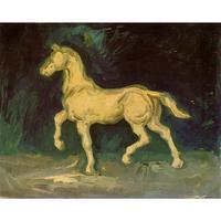 High quality Vincent Van Gogh paintings for sale Plaster Statuette of a Horse Canvas art hand painted