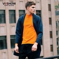 Terno Masculino 2015 New Arrival Mens Pea Coat Long Stylish Blazer Slim Fit Men Suits Blazers