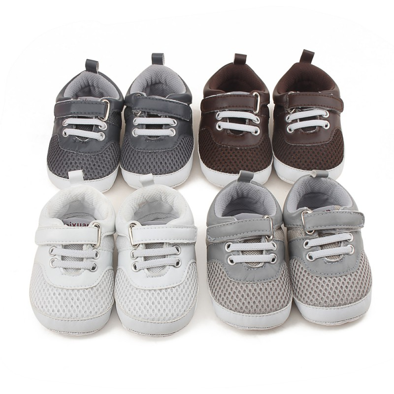 2017 Baby Shoes Newborn Boy Anti-skid Soft Sole First Walkers Toddler Infant Casual Sneaker Prewalker