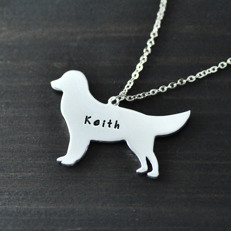 Golden Retriever necklace alloy hand cut dog pendant creature necklace a good gift beautiful charm