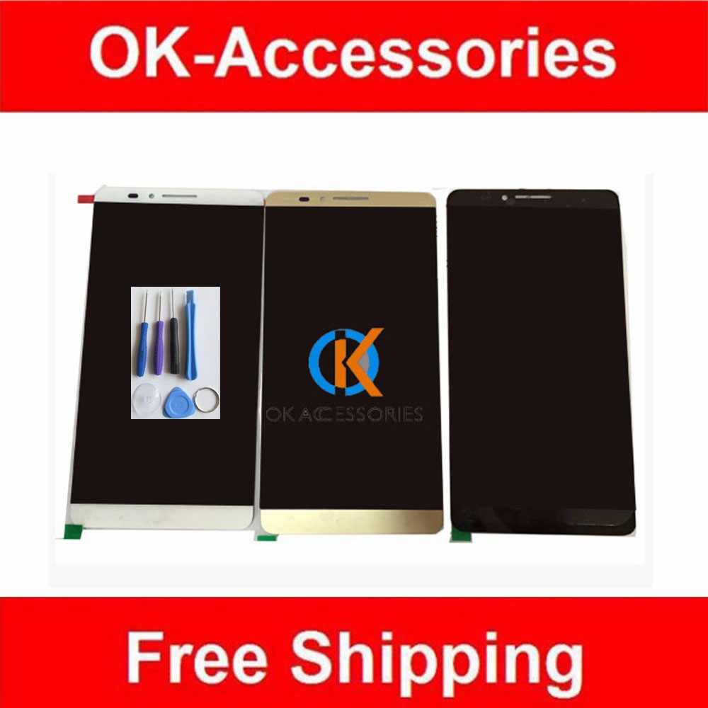 6.0 Inches For Huawei Ascend Mate 7 Mate7 LCD Display+Touch Screen Digitizer Black White Gold Color 1PC/Lot With Free Tools генераторы