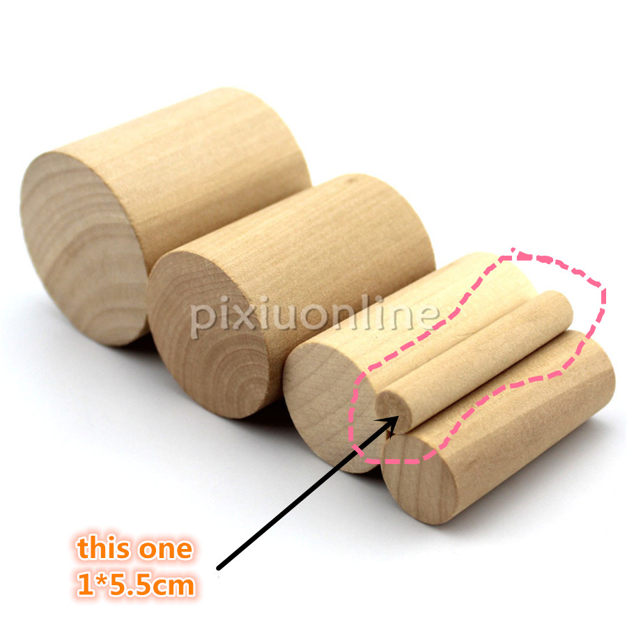 5pcs J559b Smooth Cylindrical Pine Wooden Block Wood Cylinder 1*5.5cm Deal Stick DIY Model Ship House Children Use Italy