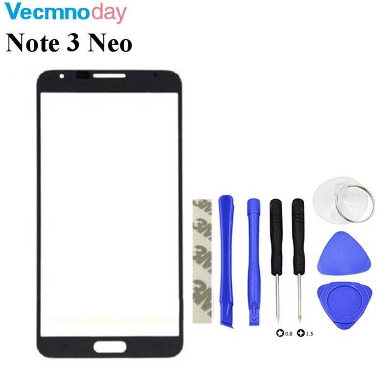 Vecmnoday Blanc Noir Pour Samsung Galaxy Note3 Note 3 Neo N750 N7505 Façade En Verre 5.5 Écran tactile Extra-Atmosphérique Panneau De Réparation Partie